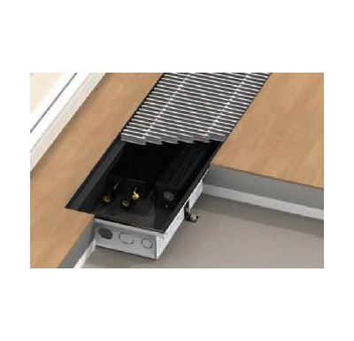 BOKI InFloor Podlahový konvektor F1T  90/340-2400mm - pozink S ventilátorem