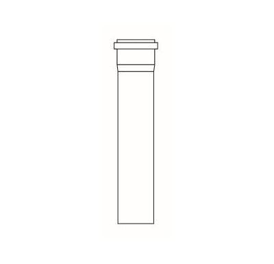 ALMEVA STARR trubka s hrdlem 2m  80mm - černá, UV stabil.