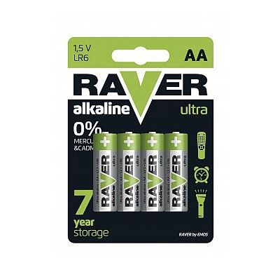 RAVER Alkalická baterie Raver  1,5V AA