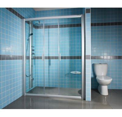 Ravak Sprchové dveře Rapier NRDP4-140 white+transparent