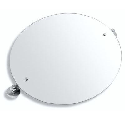 NOVASERVIS Zrcadlo s výklopným držákem ovál 60x50 cm  Metalia 1 chrom - 6117,0