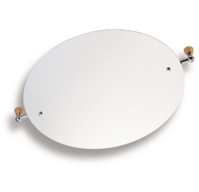 NOVASERVIS Zrcadlo s výklopným držákem ovál 60x50 cm Metalia 3 chrom - 6317,0