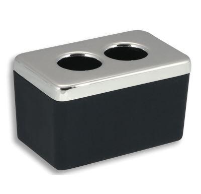 NOVASERVIS Dóza na kosmetické tampony Metalia 4 černá-chrom - 6422,5