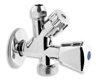 """NOVASERVIS Kombinovaný roháček s ventilem pro pračku 1/2""""x3/8""""x3/4"""" - CF5104"""